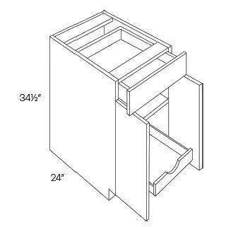 Single Drawer Double Door Base Cabinets 1 POS