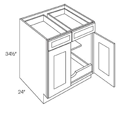 Double Drawer & Door Base Cabinets 1 POS