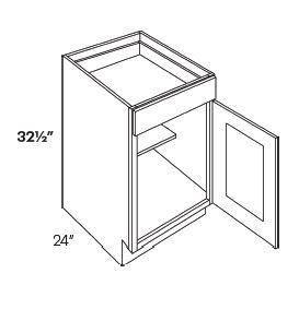 1 Door 1 Drawer Base Cabinets-HA