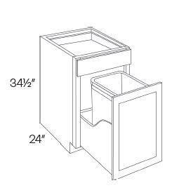 Waste Basket Cabinets-1 Basket