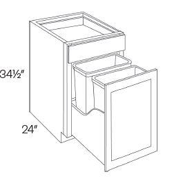 Waste Basket Cabinets-2 Basket