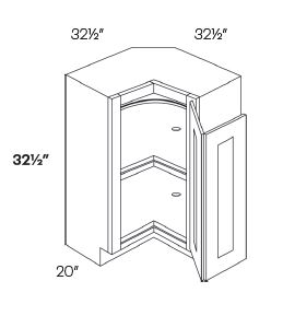 Lazy Susan Corner Base Cabinets-HA