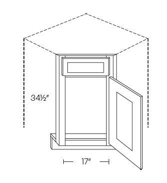 Diagonal Corner Sink Fronts
