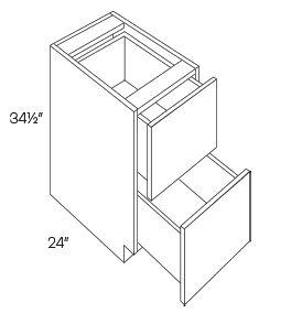2 Drawer Base Cabinets