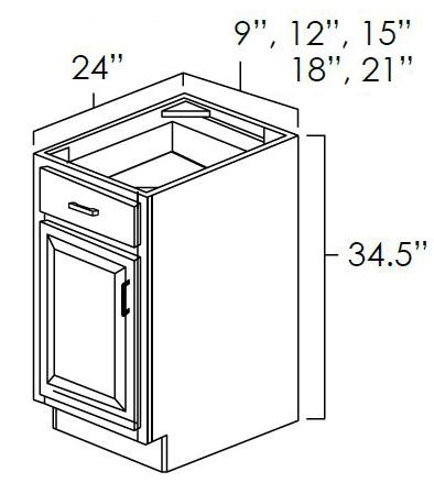 Single Door Single Drawer Base