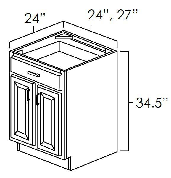 Double Door Single Drawer Base