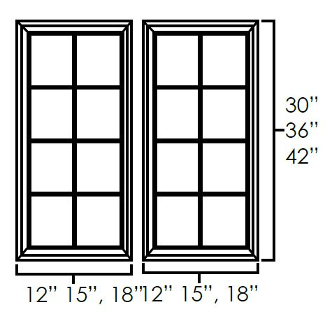 Set of Double Glass Doors