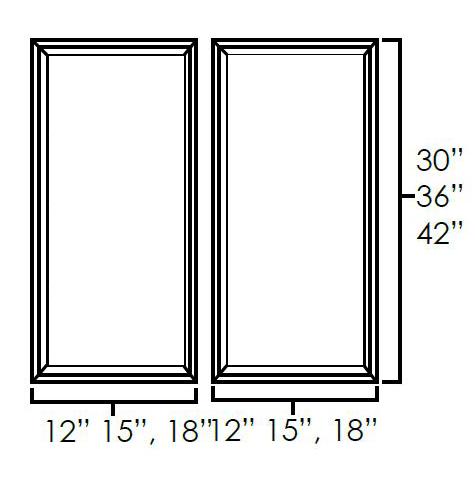 Set of Double Glass Doors