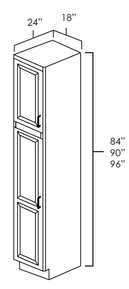 "18"" Wide Utility Cabinets-2 Doors"