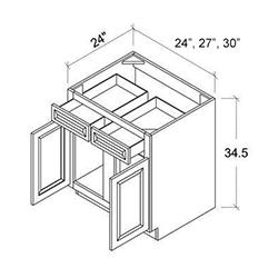 Double Door Single Drawer Bases