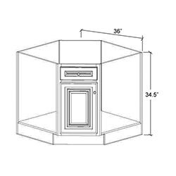 Diagonal Corner Sink Base
