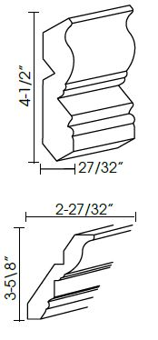 Crown Moldings - CM96-4