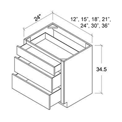 3 Drawer Base