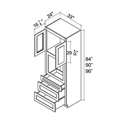 Oven Cabinets - 2 Door