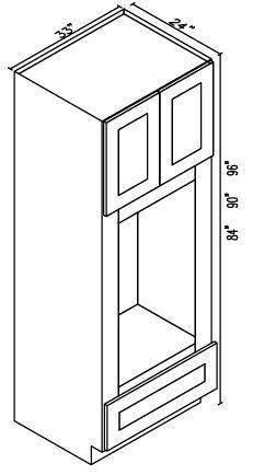 Oven Microwave Cabinets - 2 Door