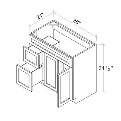 Sink Base Vanities - 2 Door 2 Drawer