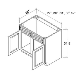 Sink Base - 2 Door