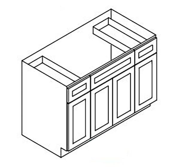 Sink Base - 4 Door 2 Drawer