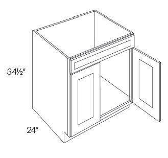 1 Drawer Front 2 Door Sink Base Cabinets