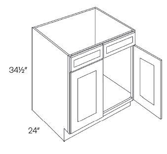 2 Drawer Front 2 Door Sink Base Cabinets