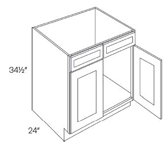 2 Drawer Front 2 Door Sink Base Cabinets