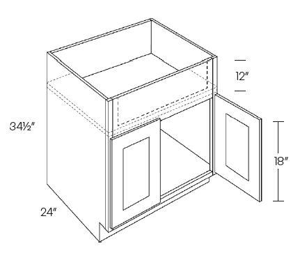 2 Door Farm Sink Base Cabinets