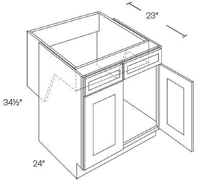 2 Door Handicap Removable Sink Base Cabinets