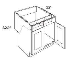 2 Door Handicap Removable Sink Base Cabinets