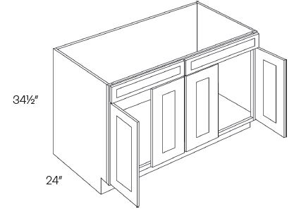 2 Drawer Front 4 Door Sink Base Cabinets