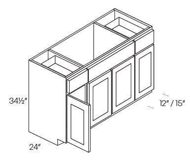 Combination Sink Base Cabinets 4 Door