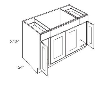 Combination Sink Base Cabinets 4 Door