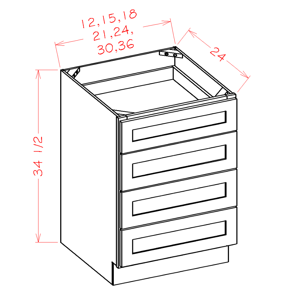 4 Drawer Base