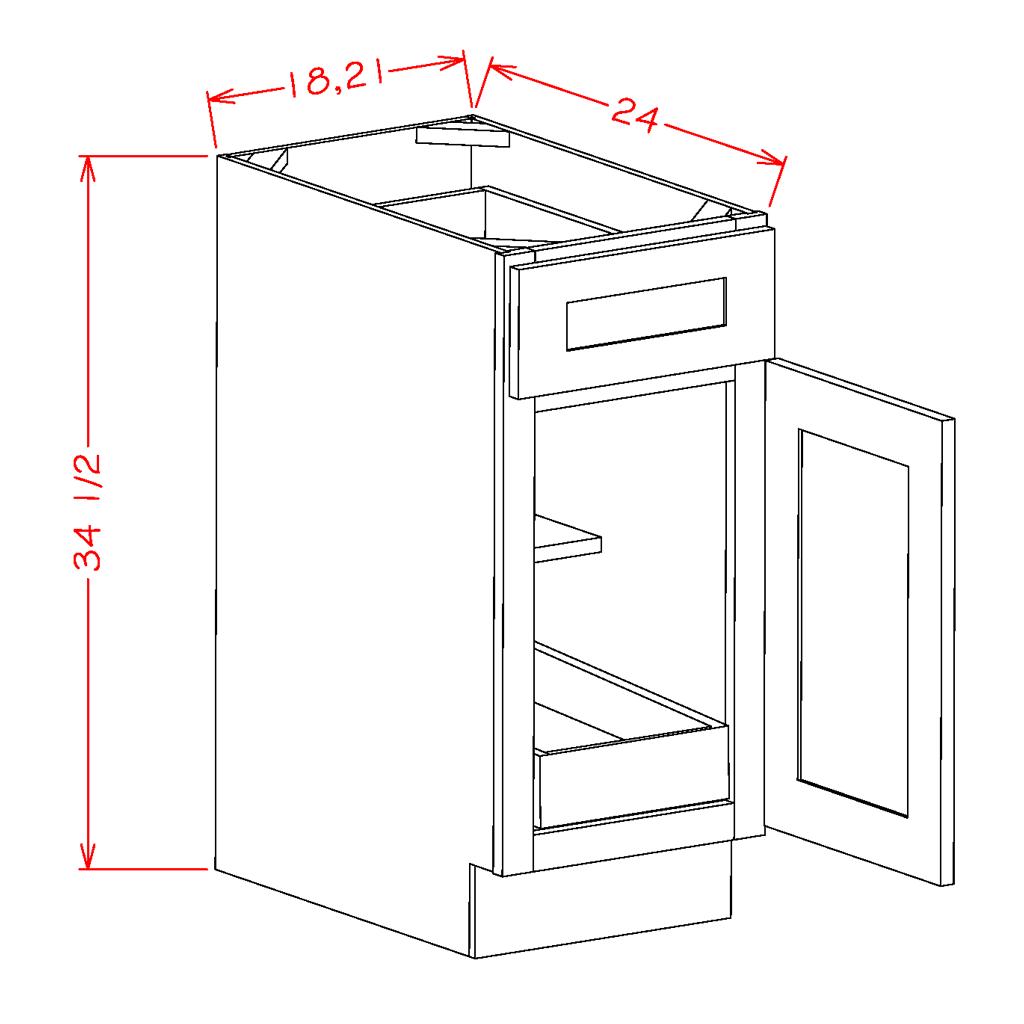 Single Door Single Rollout Shelf Bases
