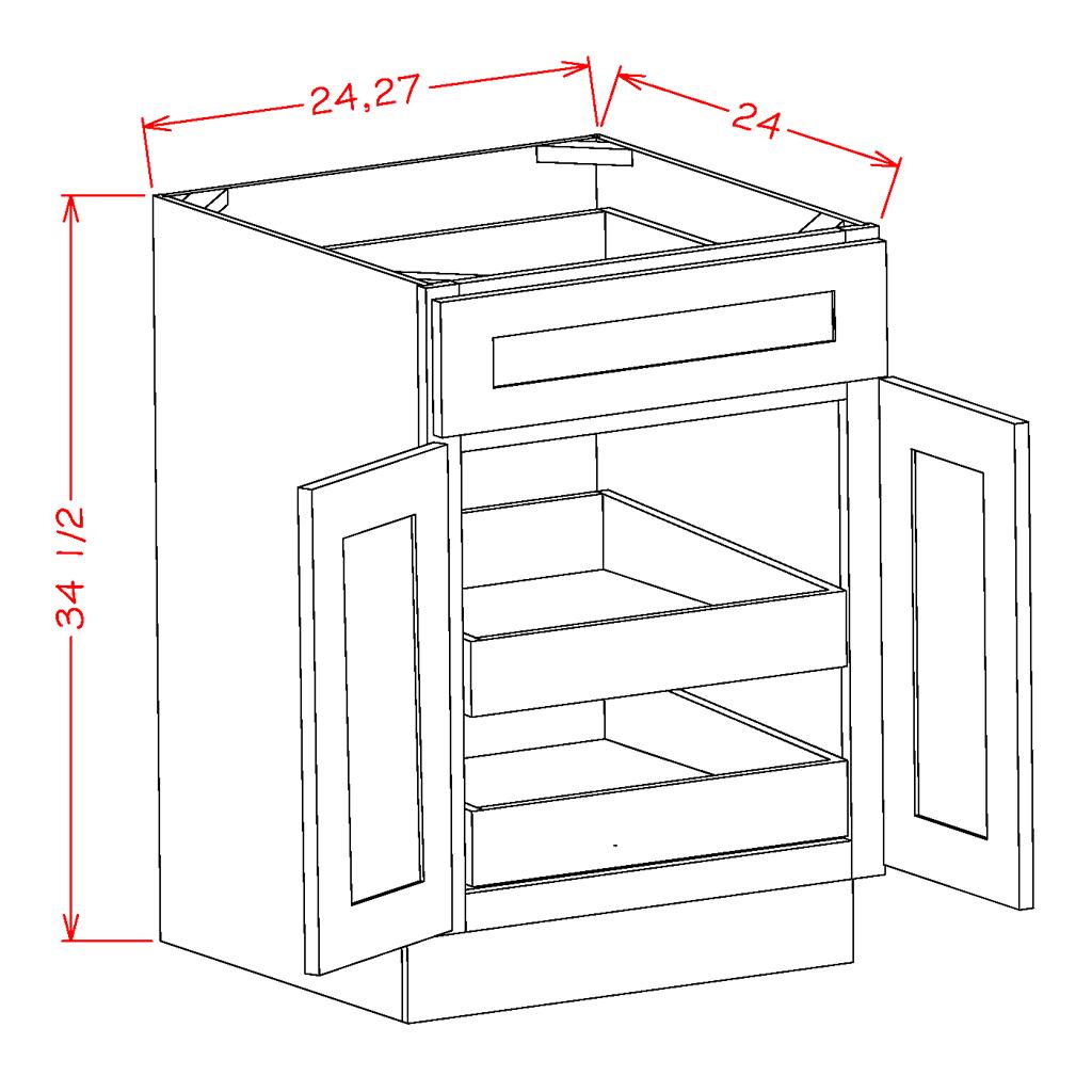 Double Door Double Rollout Shelf Bases