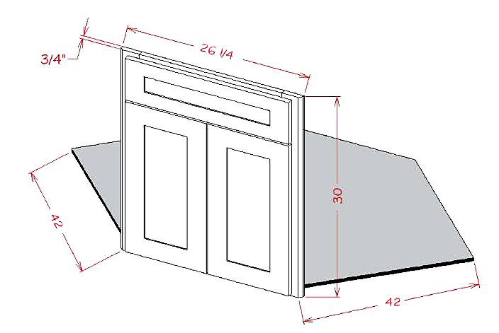 Sink Bases-Diagonal Sink Front