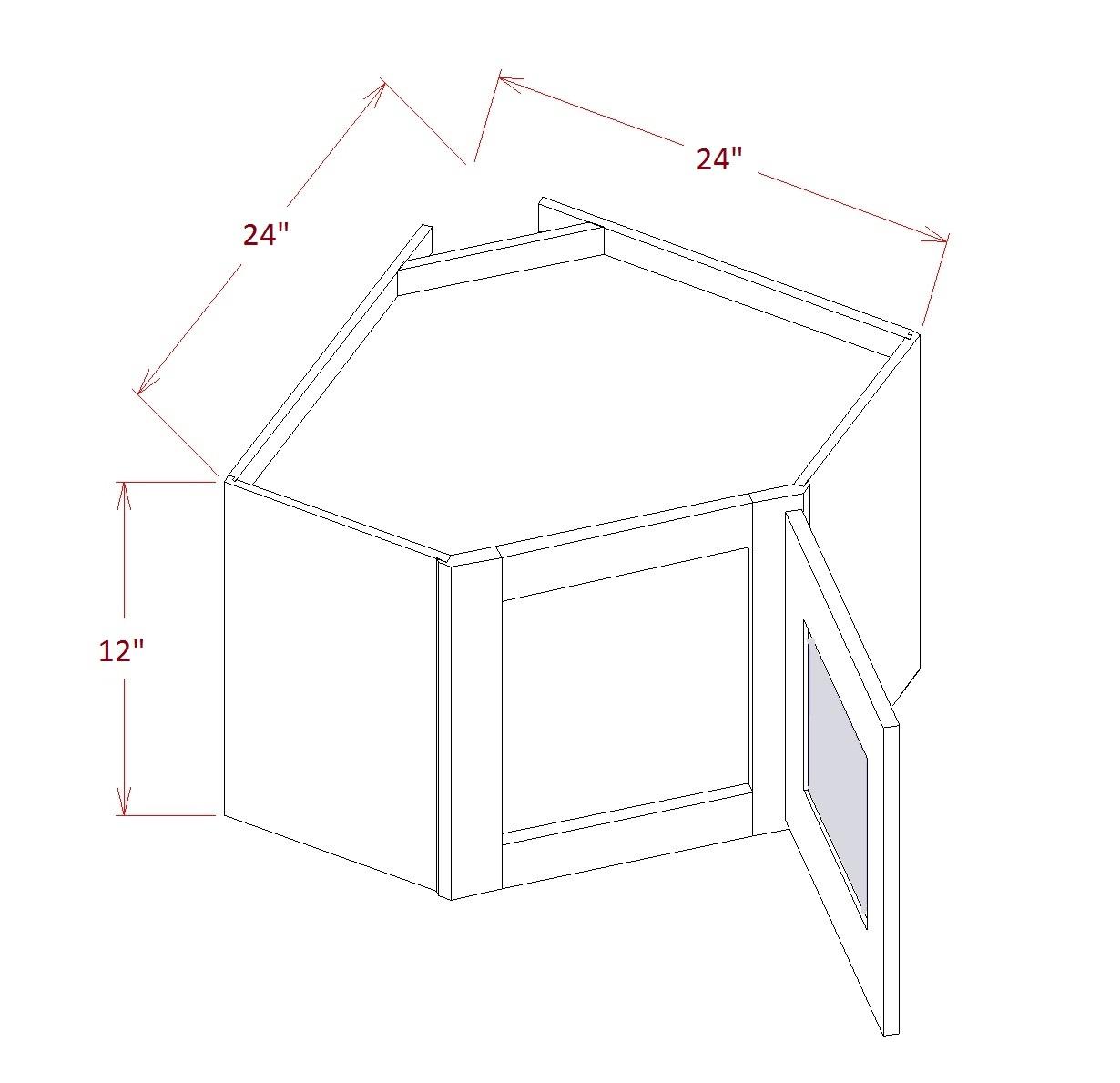 Diagonal Corner Stacker Wall Cabinets