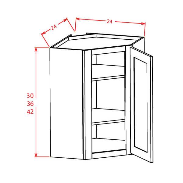 Diagonal Corner Wall Cabinet