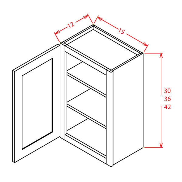 Open Frame Wall Cabinets-Single Door
