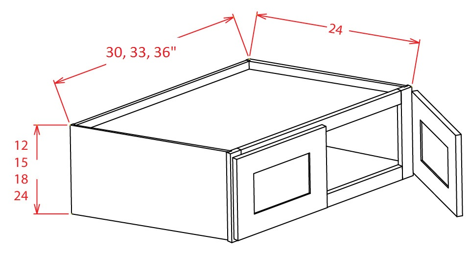 Refrigerator Wall Cabinets - 33