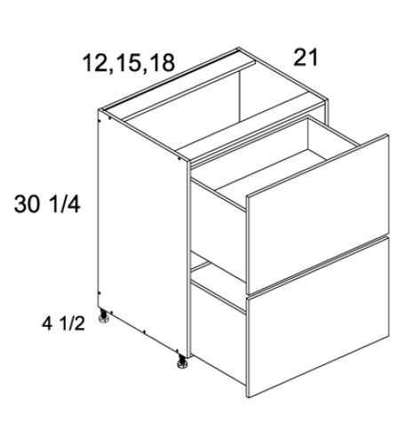 Two Drawer Vanity Base