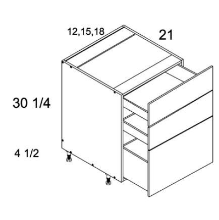 Three Drawer Vanity Base