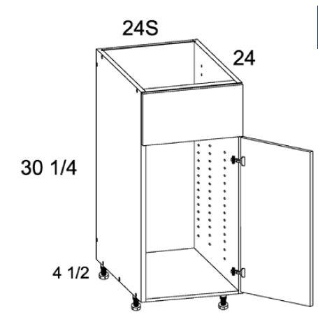 Single Door Single False Drawer Sink Base