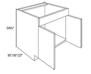 2 Door Vanity Base Cabinets