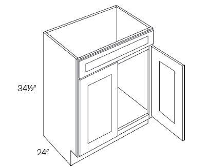 Double Door Vanity Sink Base Cabinets