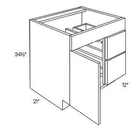 1 Door 2 Drawer Vanity Base Cabinets