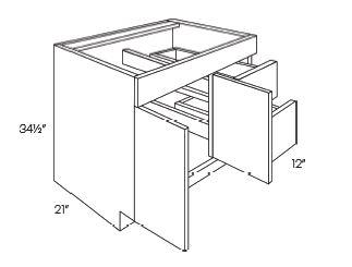 2 Door 2 Drawer Vanity Base Cabinets