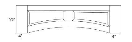 Arched Valances-Raised panel